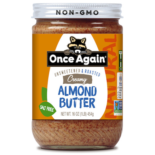 Once Again Creamy Salt Free Natural Almond Butter, Unsweetened and Roasted