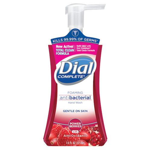 Dial Complete Power Berries Antibacterial Foaming Hand Wash Pump 7.5 Ounce - 8/cs