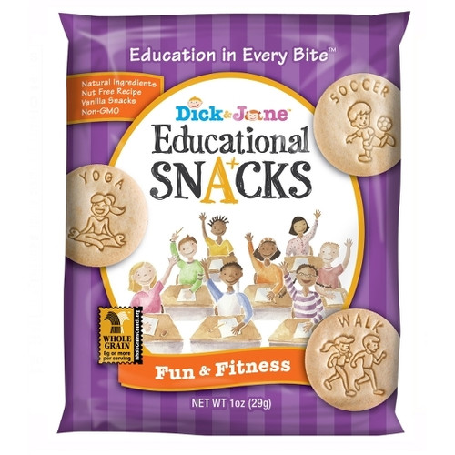 Dick And Jane Fun & Fitness Educational Snack Crackers