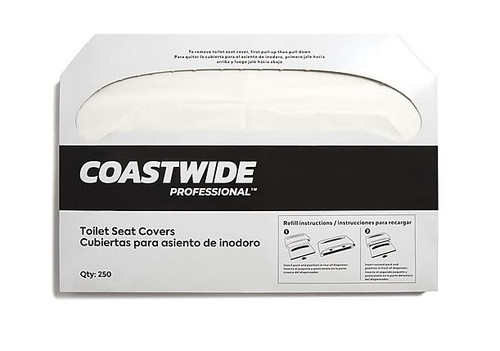 """Coastwide Professional Toilet Seat Covers, 0.87"""" x 10.43"""""""