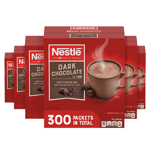Nestle Hot Cocoa Mix, Rich Chocolate .71 oz, 50 Packets, 6 Boxes (300 Packets)