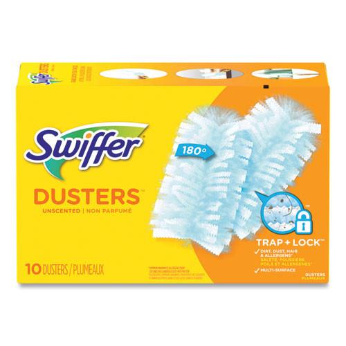 Swiffer Refill Dusters, Dust Lock Fiber, Light Blue
