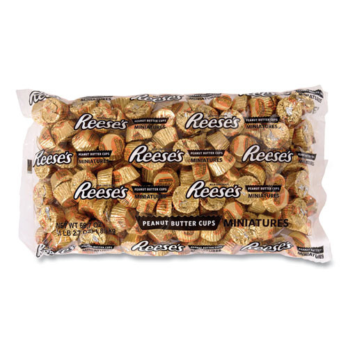 Reese's Peanut Butter Cups Miniatures Bulk Pack, Milk Chocolate, 66.7 Oz Bag