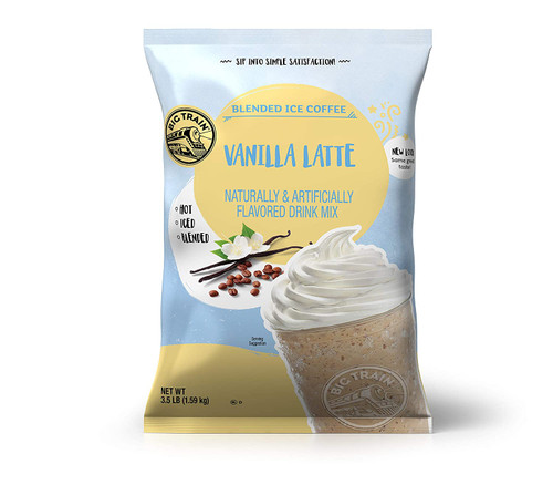 Big Train Vanilla Latte Blended Ice Coffee Mix, 3.5 Ponds (Pack of 5)