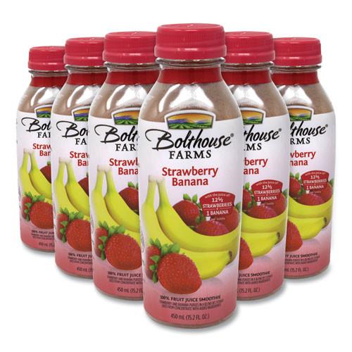Bolthouse Farms 100% Fruit Juice Smoothie, Strawberry Banana, 15.2 Oz Bottle, 6/pack