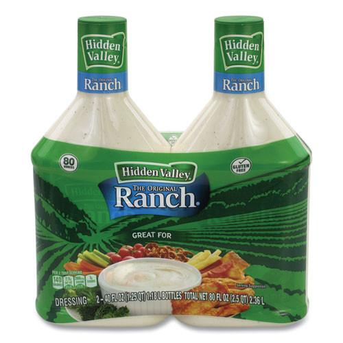 Hidden Valley Original Ranch Dressing, 40 Oz Bottle, 2 Bottles/pack