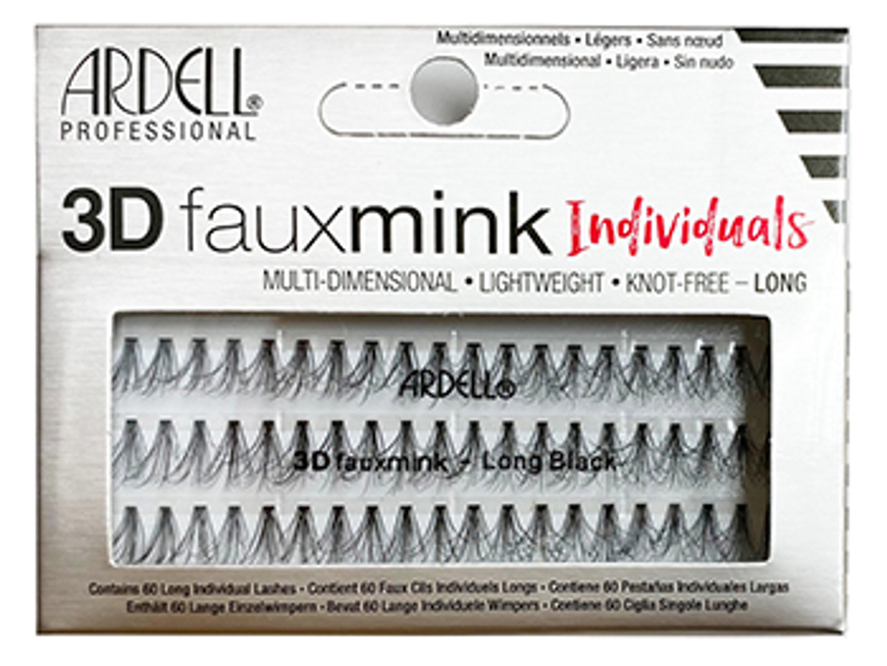 Ardell 3D fauxmink Individuals - Long Black