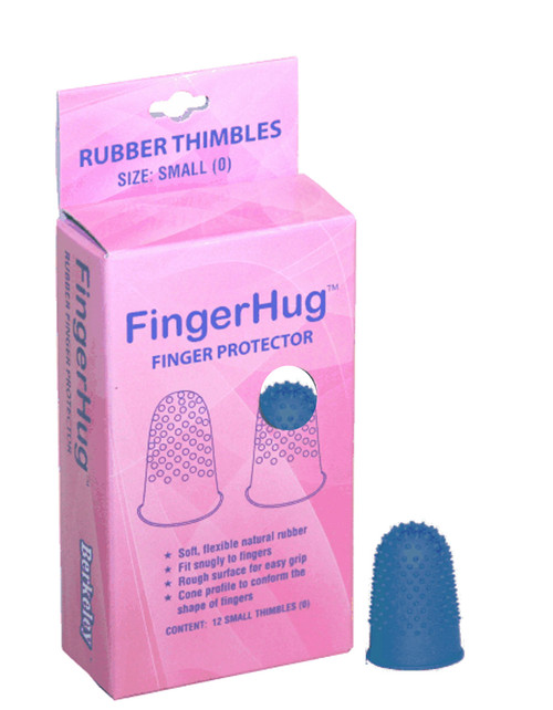 FingerHug Finger Protector Rubber Thimbles - Size 0 / Small