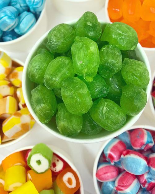 Vegan sour apple green boiled handmade sweet