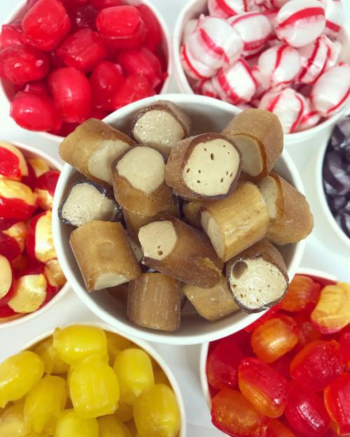 Vegan ginger handmade boiled rock brown sweet