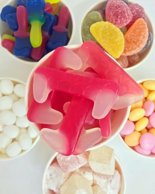 Vegan haribo pink gummy chewy soft dracula teeth halloween sweet