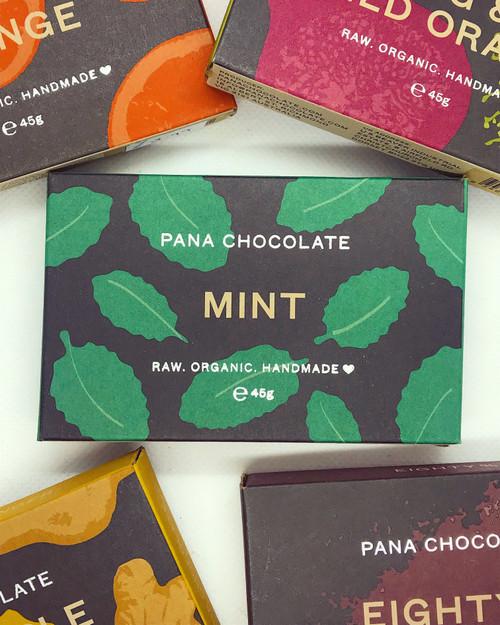 Mint Pana Chocolate Chocolate Raw Handmade Organic Vegan GF Sugar Free
