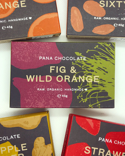 Pana Chocolate Fig & Wild Orange Chocolate Raw Handmade Organic Vegan GF Sugar Free