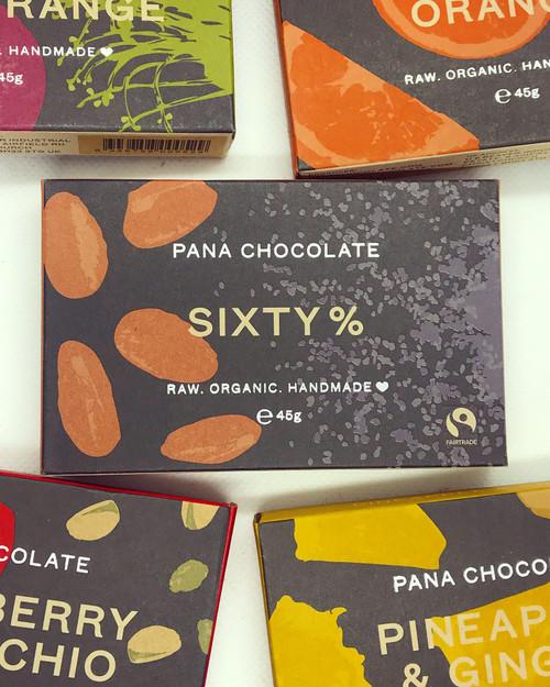 Sixty Percent Pana Chocolate Chocolate Raw Handmade Organic Vegan GF Sugar Free
