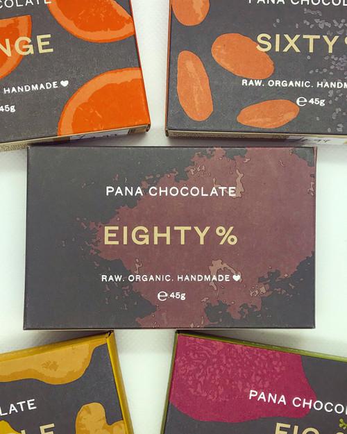 Eighty Percent Pana Chocolate Chocolate Raw Handmade Organic Vegan GF Sugar Free