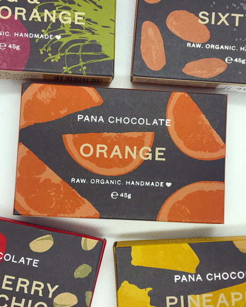 Orange Pana Chocolate Chocolate Raw Handmade Organic Vegan GF Sugar Free