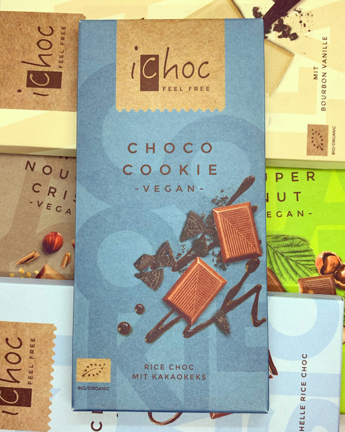 iChoc Choco Cookie Milk Chocolate Bar