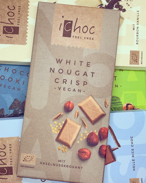 iChoc White Nougat Chocolate Bar