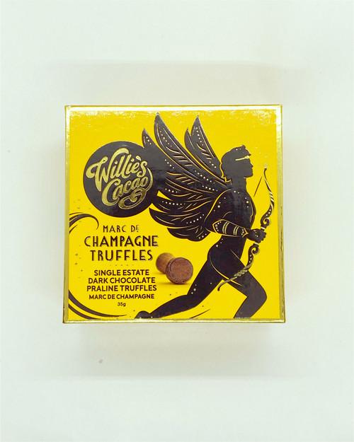 Vegan Praline Champagne Truffles Willies cacao gluten free