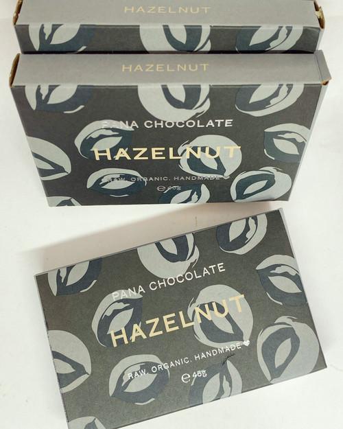 Pana Chocolate Hazelnut 45g Bar Vegan Raw Organic Sugar Free Dairy Free Gluten Free Soya Free