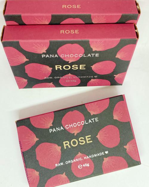 Pana chocolate rose bar organice vegan dairy free gluten free soya free handmade turkish delight