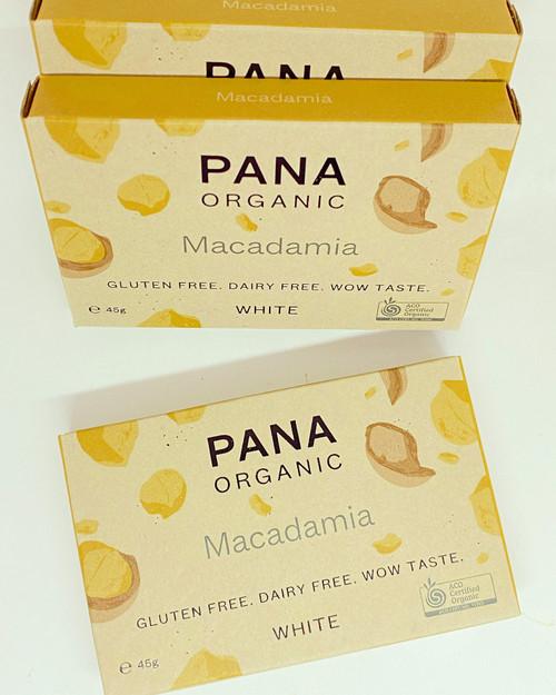 pana organic white chocolate macadamia nuts vegan dairy free soya free gluten free