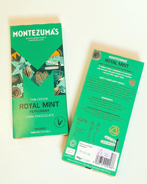 Montezuma's Royal Mint Chocolate Bar