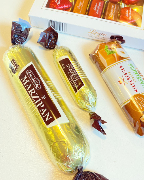 Chocolate Marzipan Gold Bars