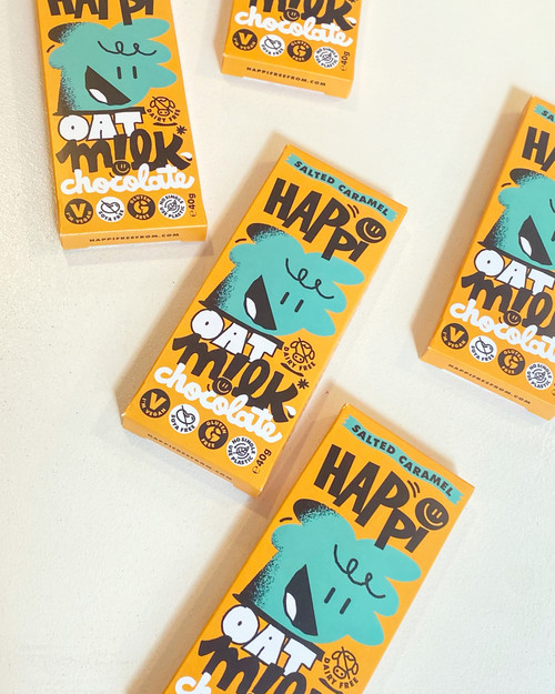 Happi Oat Milk Chocolate - Salted Caramel. Vegan & Gluten Free