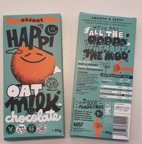 Happi Oat Milk Chocolate - Orange, Vegan & Gluten Free