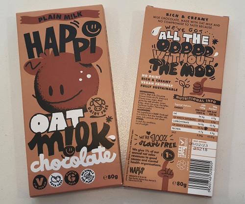 Happi Oat Milk Chocolate - Plain. Vegan & Gluten Free.