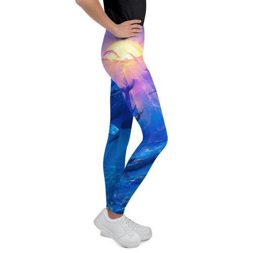 Pacific Sunrise Pitre Style Wearable Art Youth Leggings