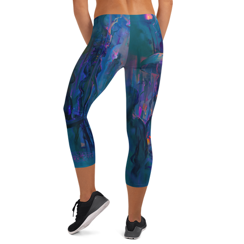 Night Street Pitre Style Wearable Art Capri Leggings