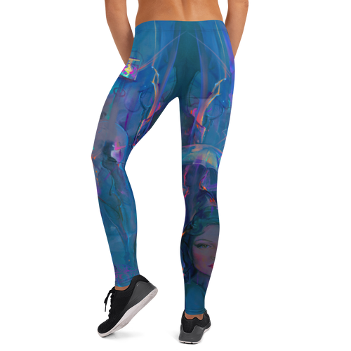 Night Street Pitre Style Wearable Art Mid-Rise Leggings