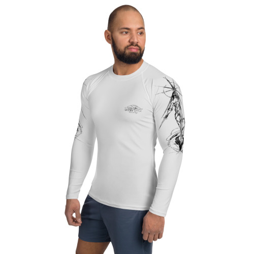 Tierra del Fuego Pitre Style Wearable Art Grey Men's Rash Guard