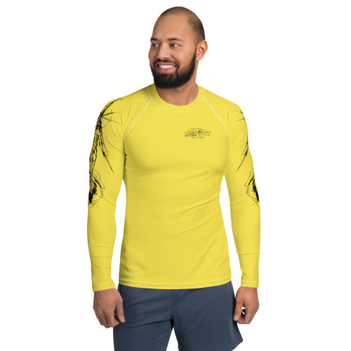 Tierra del Fuego Pitre Style Fashion Fantasy  Art Yellow Men's Rash Guard
