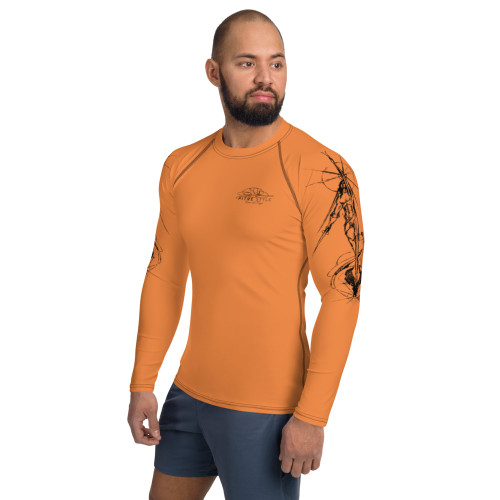 Tierra del Fuego Pitre Style Wearable Art Orange Men's Rash Guard
