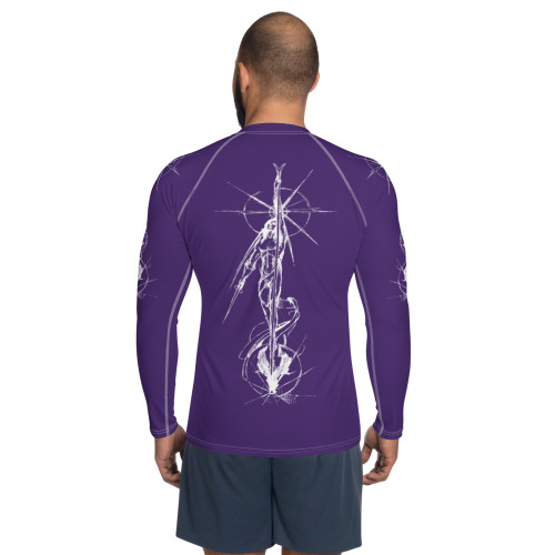 Tierra del Fuego Pitre Style Wearable Art Purple Men's Rash Guard