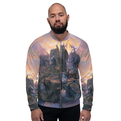 In the Company of Giants Bomber Jacket Pitre Style Wearable Art For Everyone