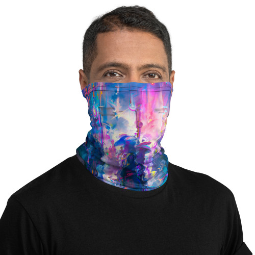 Night Street Pitre Style Fashion Fantasy Art Neck Gaiter. This neck gaiter is a versatile accessory that can be used as a face covering, headband, bandana, wristband, and neck warmer. Upgrade your accessory game and find a matching face shield for each of your outfits. • 95% polyester, 5% elastane (fabric composition may vary by 1%) • Fabric weight: 6.19 oz/yd² (210 g/m²) • Breathable fabric • Washable and reusable • Four-way stretch fabric that stretches and recovers on the cross and lengthwise grains • One size • Printed on one side, reverse side is left blank.