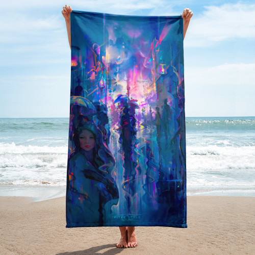 Night Street Pitre Style Fine Art Home and Outdoor Towel