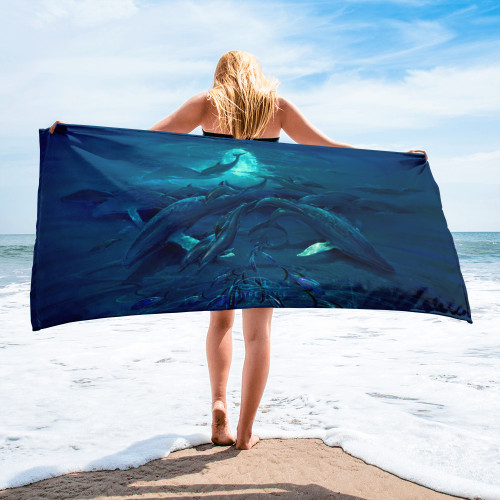 Pacific Moonrise Pitre Style Fine Art Home and Outdoor Towel