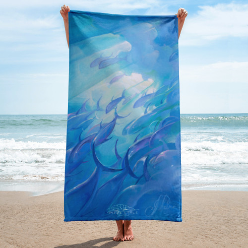 Blue Rush Pitre Style Fine Art Home and Outdoor Towel