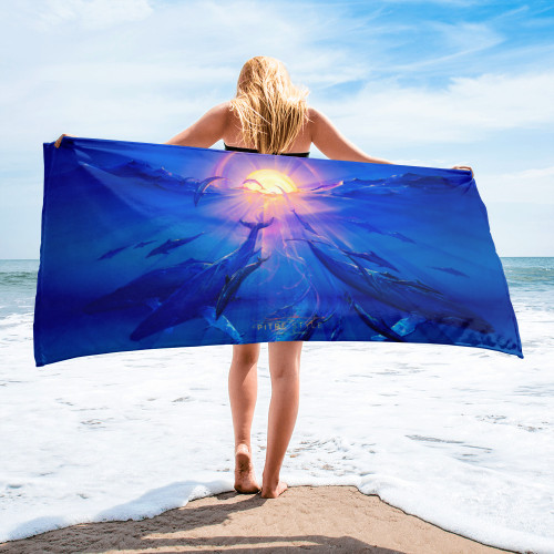 Pacific Sunrise Pitre Style Fine Art Home and Outdoor Towel