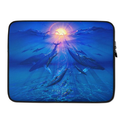 Pacific Sunrise Pitre Style Fine Art Laptop Sleeve