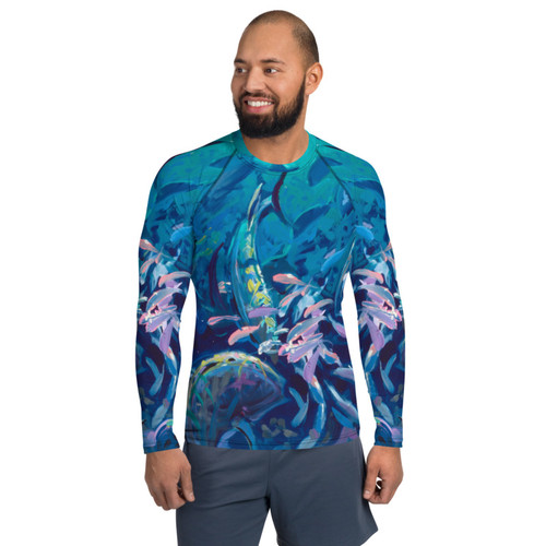 Reef Party Pitre Style Wearable Art Men's Rash Guard