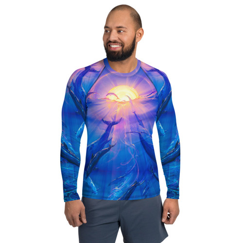 Pacific Sunrise Pitre Style Wearable Art Men's Rash Guard