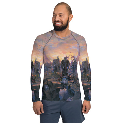 In Company of Giants Pitre Style Wearable Art Men's Rash Guard