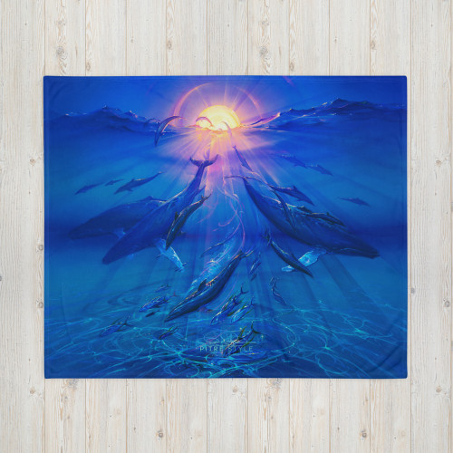 Pacific Sunrise Pitre Style Fine Fashion & Fantasy Art Throw Blanket by John Pitre. Do you feel that your home is missing an eye-catching, yet practical design element? Solve this problem with a soft silk touch throw blanket that's ideal for lounging on the couch during chilly evenings. A throw blanket can be a striking design element, a dear memento, or simply an amazing accessory for refreshing afternoon naps—that's why this custom-printed Throw Blanket is the perfect canvas for your wildest designs. The soft silk touch fabric yields prints in eye-popping colors, and the blanket is warm and cozy.