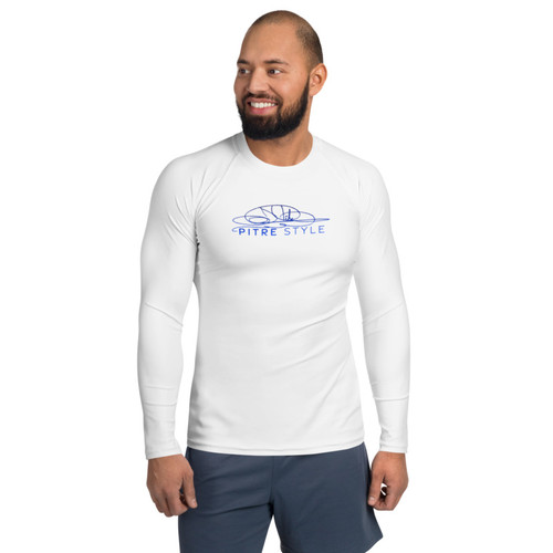 Deep Ocean Pitre Style Minimalist Wearable Art Men's Rash Guard